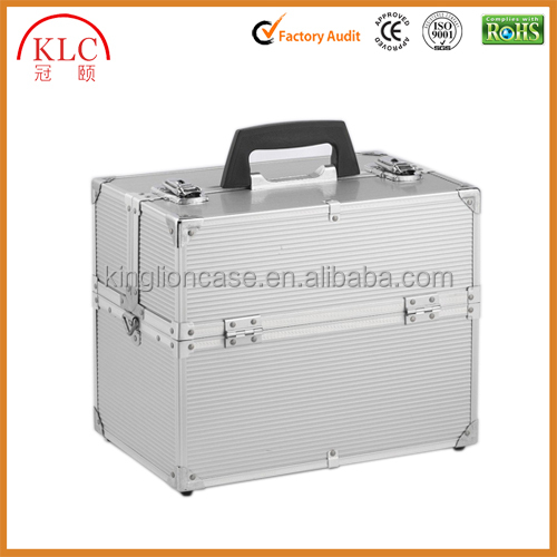 Customized cosmetic case aluminum make up box