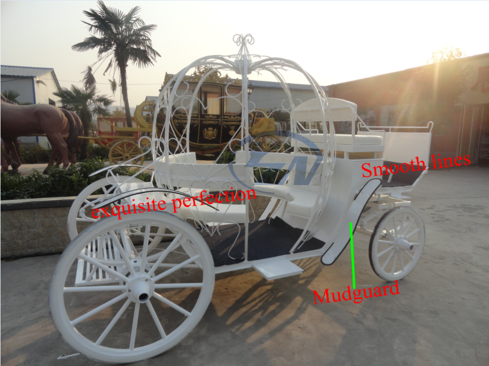 Christmas Pumpkin Wedding Carriage with Led Lighted cinderella cart for sale