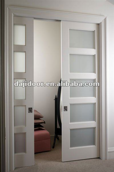 European Frosted Glass Pocket Doors Interior DJ-S424