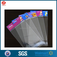 Clear Head Card OPP Self Adhesive Back Plastic Bag