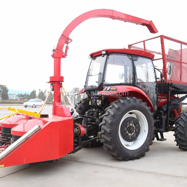 2018 hot sale Tian Zhongqi modern harvester agricultural for rice,corn machine Multi-function green forage harvester for sale