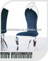 antique european style stainless steel chair in dining room