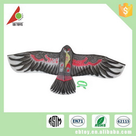 Promotional item children outdoor toy eagle shape kite with 30 meter line