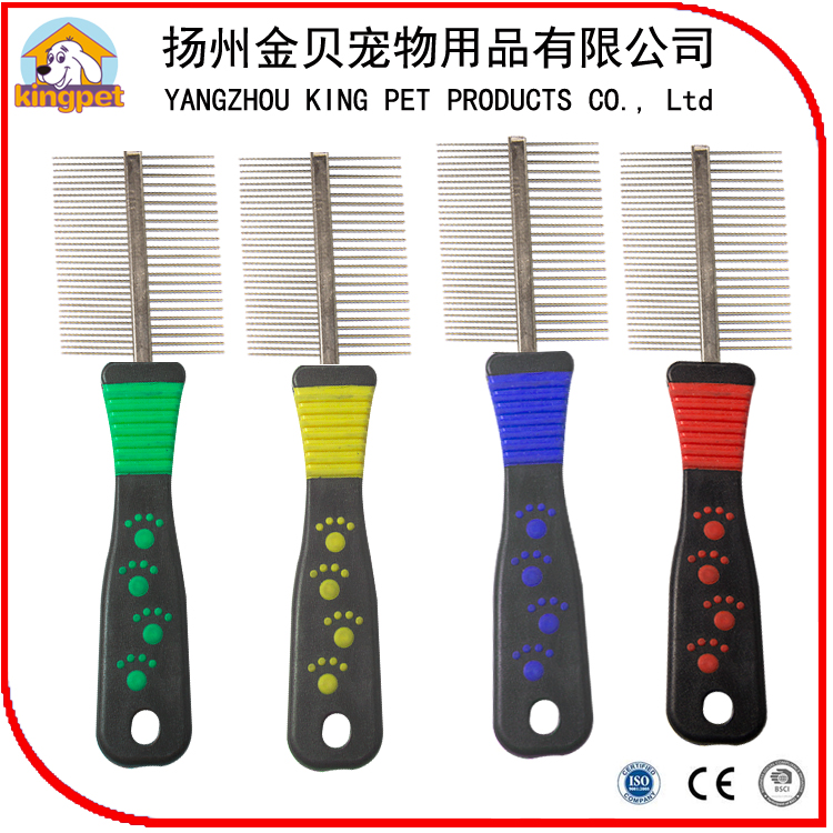 Alibaba supplier wholesale double two sides pet grooming comb for pet hair lice removal