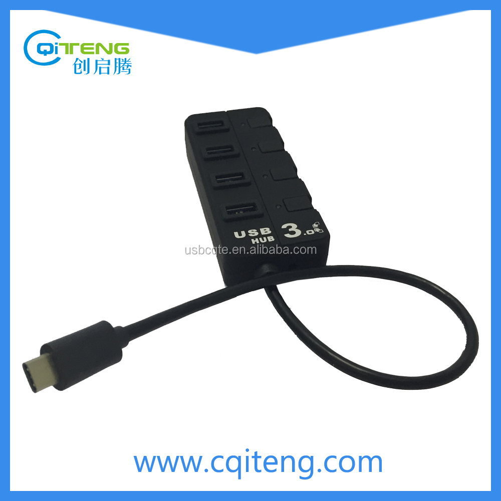 Type C Interface USB 3.1 4 Port USB C Hub With Switch