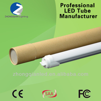 Latest technology weatherproof led luminaire t8 led tube light with rotatable end cap