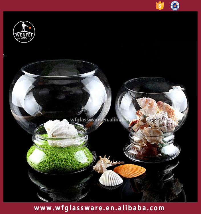 Wenfei sale glass fish bowl fish tank for coffee table