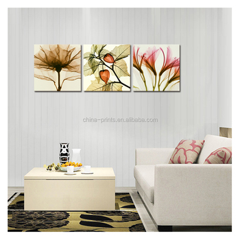 "Artistic Photo Canvas Print Framed Flower Picture Print Canvas Art Home Wall Decoration(20""x20""x3Pcs)Wholesale Ready to Hang"