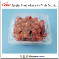 Clear PET food box clear plastic salad container disposable PET blueberry box PET fruit box