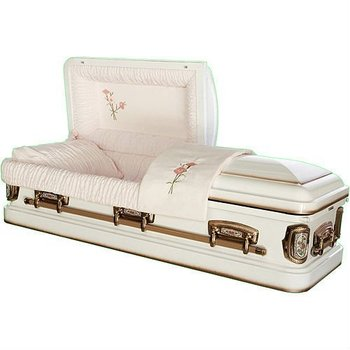 Star Legacy Supreme Distinction Cameo Rose 18-guage Steel Casket
