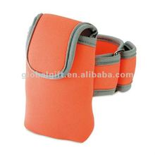 Arm band neoprene mobile phone pouch