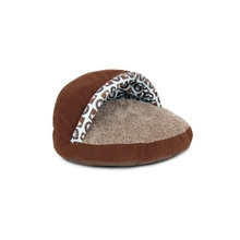 Custom high quality polyester novelty brown shoe shape cat bed house