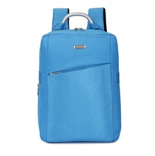 direct factory custom nylon OEM light blue shockproof laptop backpack