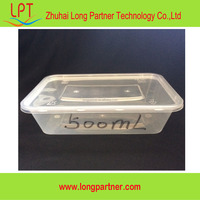 New arrival 500ml plastic disposable food storage container with lid