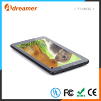 Portable 7 inch 2200mAh battey powered mini android thin tablet pc