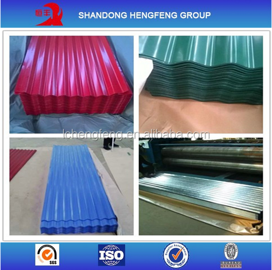 galvanized corrugated sheet metal roofing price