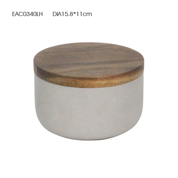 Concrete or cement catchall/box/bowl with wood