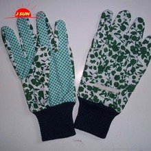 2017 New products Trade Assurance PVC dotted Polyester garden gloves Knitted Work Glove,