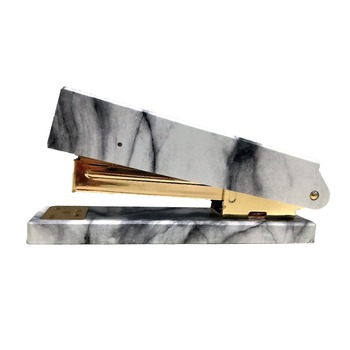 Marble Printing Manual Stapler Machine Fashion Acrylic Gold Metal Stapler for Acrylic Office Accessory