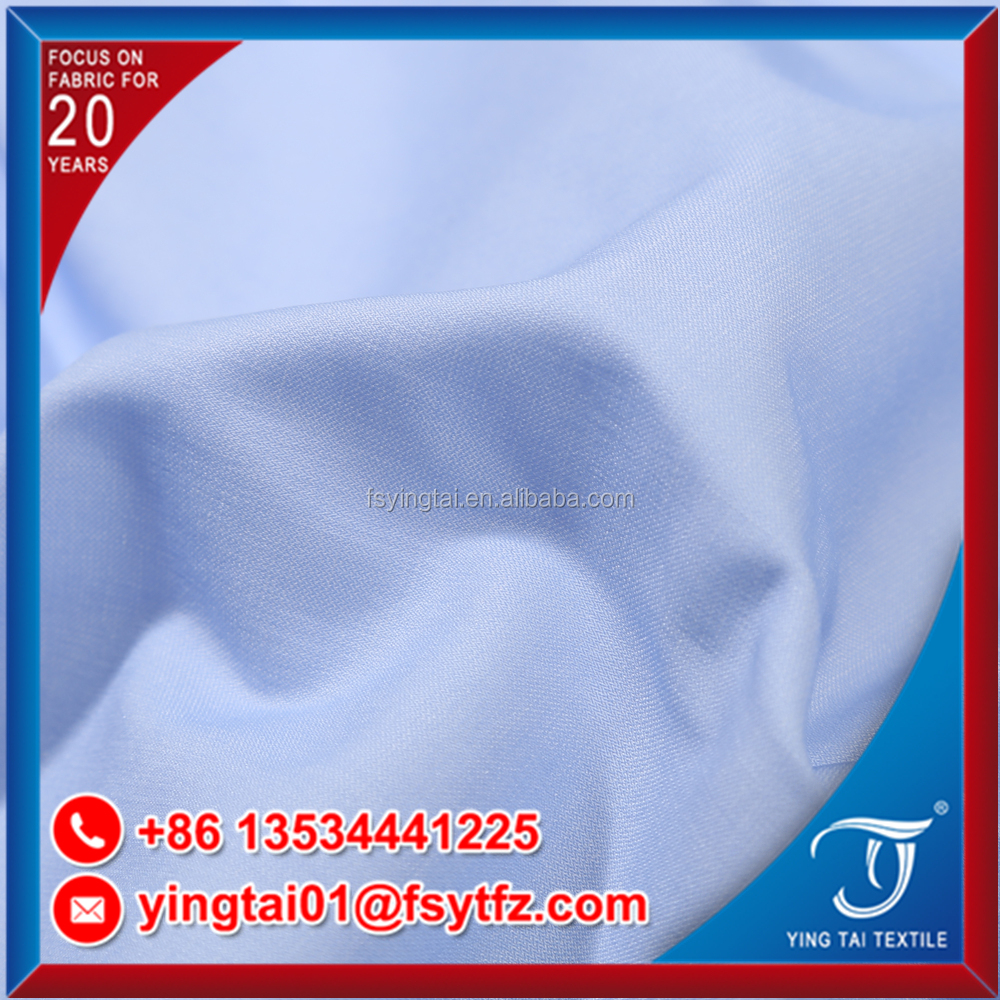 95%polyester 5%cotton woven t/c yarn dyed simple stripe plain shirt fabric