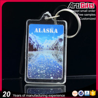 Custom Printed Plastic Clear Acrylic Photo Keyring