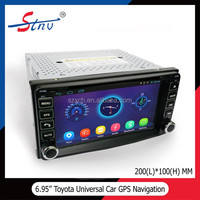 6.95 Inch Car GPS For Toyota With Car DVD Player / 200*100MM