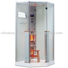 2015 deluxe steam shower cabin hot sale one person portable steam sauna room with shower K062 (with CE,TUV,EMC)