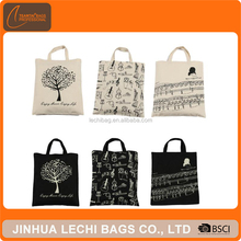 new style black canvas tote bag custom gift shopping bag cotton canvas bag