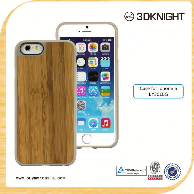 custom cell phone case mobile wood bamboo case for iPhone 6