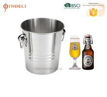 2017 Single wall Stainless Steel Wine beer Cooler Ice Bucket Champagne Cooler with handles