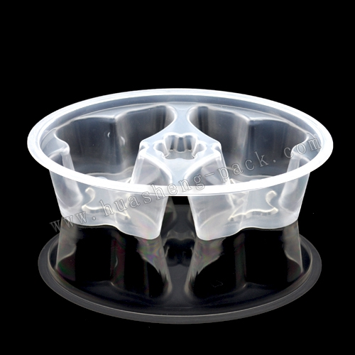 450ml butterfly clear plastic food disposable container