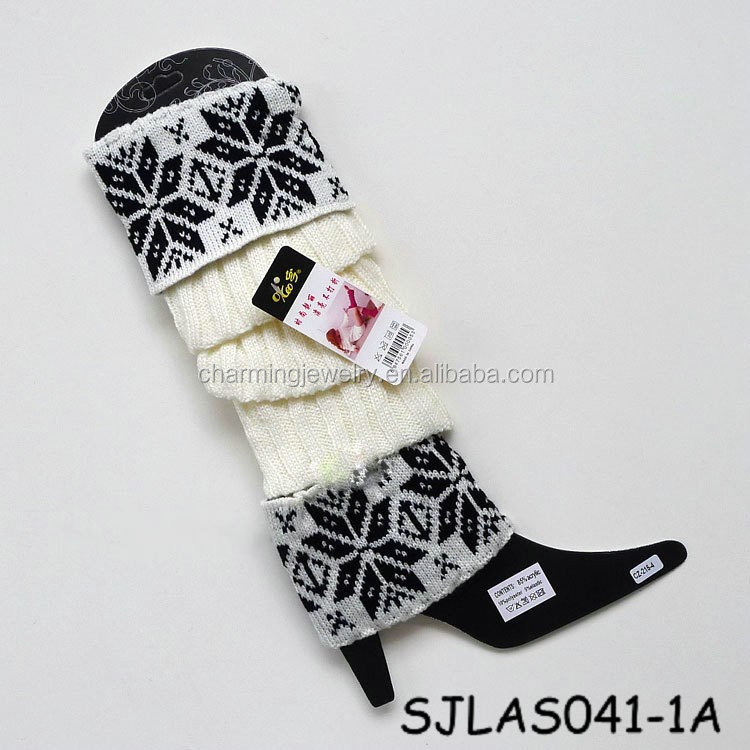 White Thick Acrylic Knitting Sock