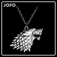 online shop china Wholesale western movies Game of Thrones Wolf Chain Necklace Fashion Jewelry