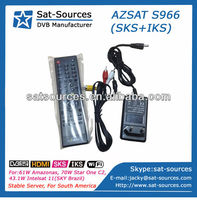 AZSAT S966 working with one antenna for SKS for Amazonas 61W