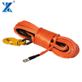 12 strand blue color braided 12v winch 8mm*27m synthetic winch ropes for offroad recovery