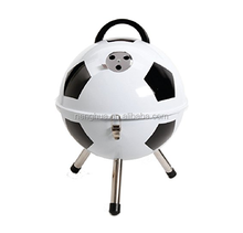 White and Black Soccer Ball Shape BBQ Steel Grill