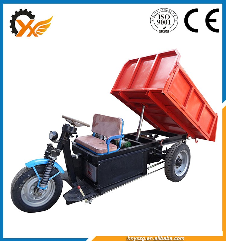 Special designed three wheels dump vehicles hydraulic lift cargo tricycle