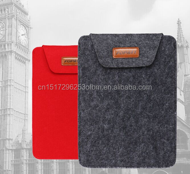 Factory Customized Wool Felt Material Case for iPad bag Pro