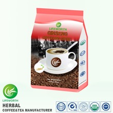Lifeworth wholesale instant tongkat ali cappuccino ginseng coffee for improving body fitness