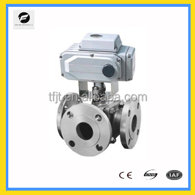 2 inches,3inches 2 way stianless steel electric AC220V motor actuator ball valve <strong>L</strong> flow T flow flange type asa <strong>150</strong>#