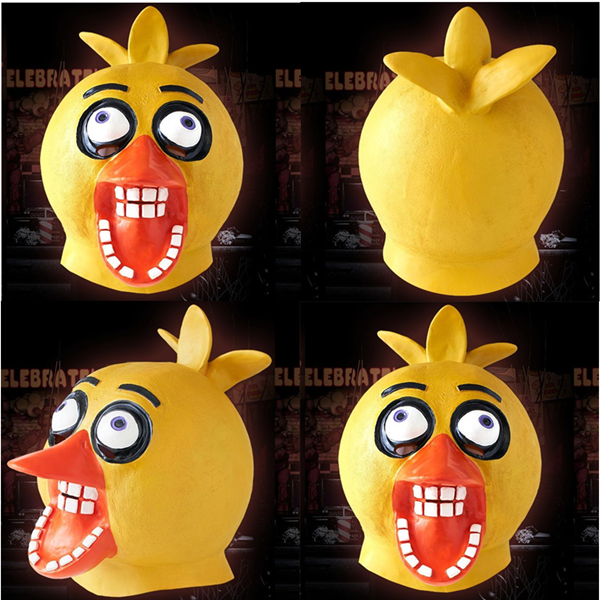 2013 New Products Eco-Friendly <strong>Natural</strong> Favored Little Yellow Chicken Latex Mask Full Head Animal Mask x13014