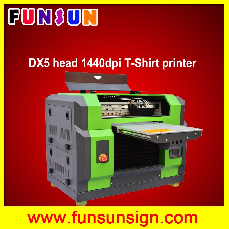 2016 new FS-163 DTG printer a3 a4 flatbed with dx5 head 1440dpi