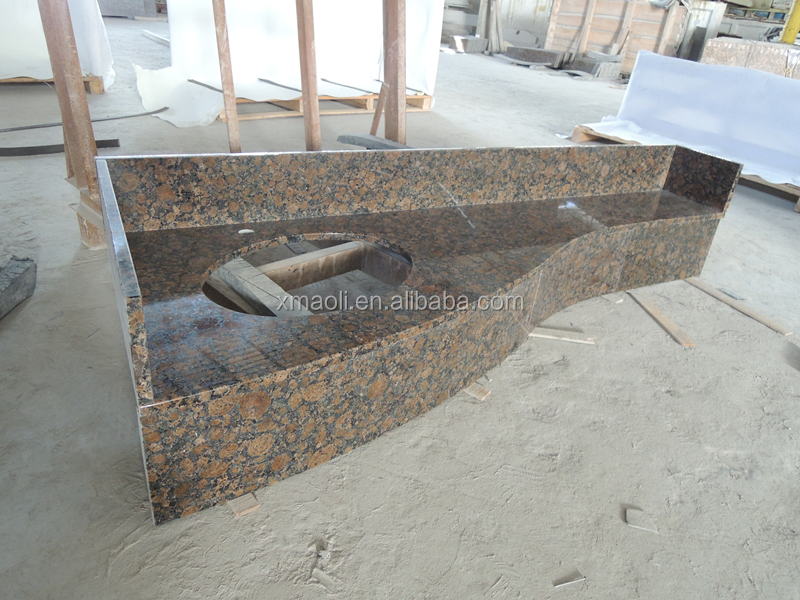 2017 various style custom made baltic brown color granite countertop