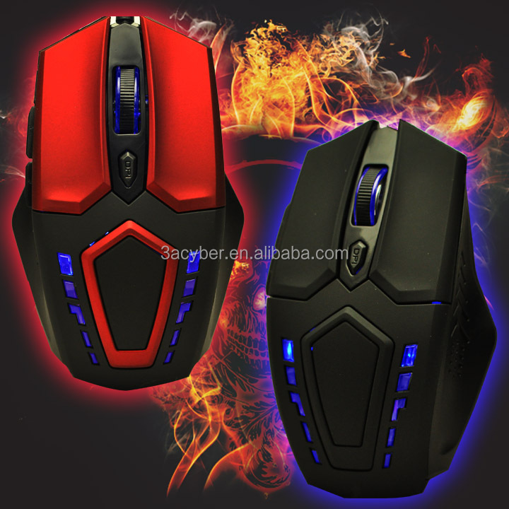 800/1200/2400 DPI Wired Blue LED Gaming Game Mouse Optical 6 Buttons for Laptop PC-US