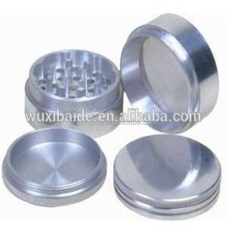 cnc machining custom plastic/metal herb grinder with custom logo