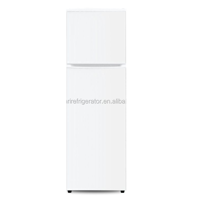 Top freezer white refrigerator with big capacity fridge