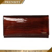 Genuine cowhide leather women wallet purse bag