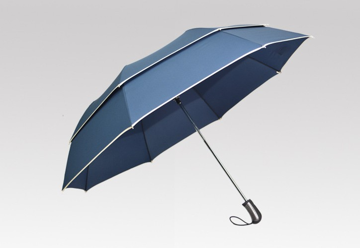 auto open 2 folding umbrella with double layer