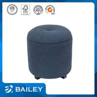 Top Seller Home Furniture Furniture Supplier Fabric Round Ottoman