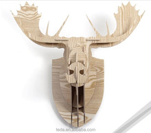 Popular Indoor Decor Animal wood Deer Head